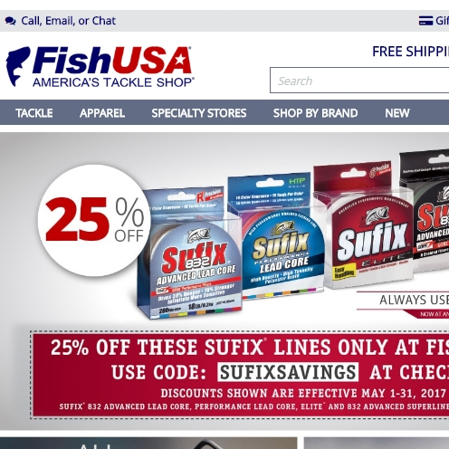 25 off sufix fishing line lunkerdeals for Fish usa coupon